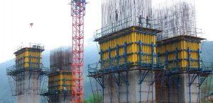 опалубка мостовых колонн