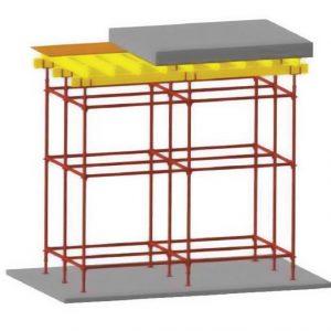 Этап 4. Опалубка перекрытия, прямой стол.